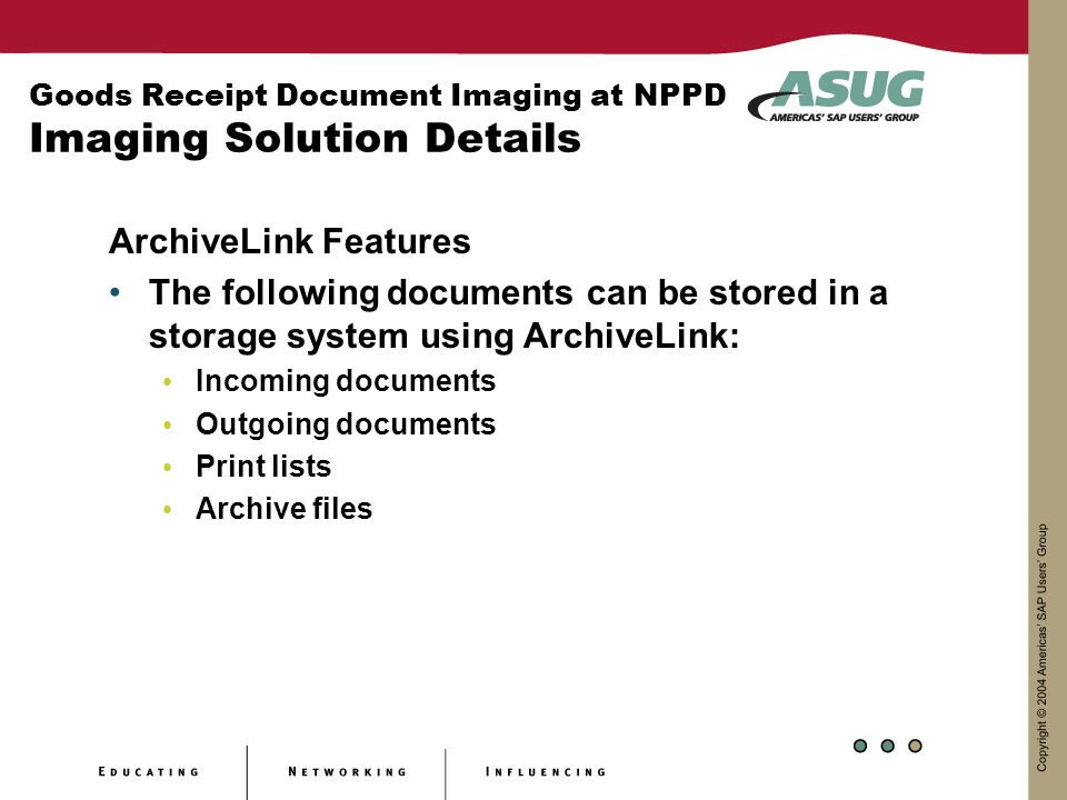Goods Receipt Document Imaging at NPPD Imaging Solution Details