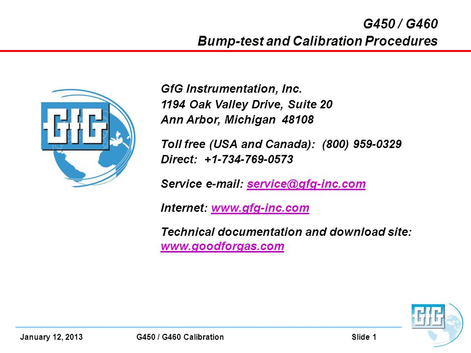 Bump-test and Calibration Procedures
