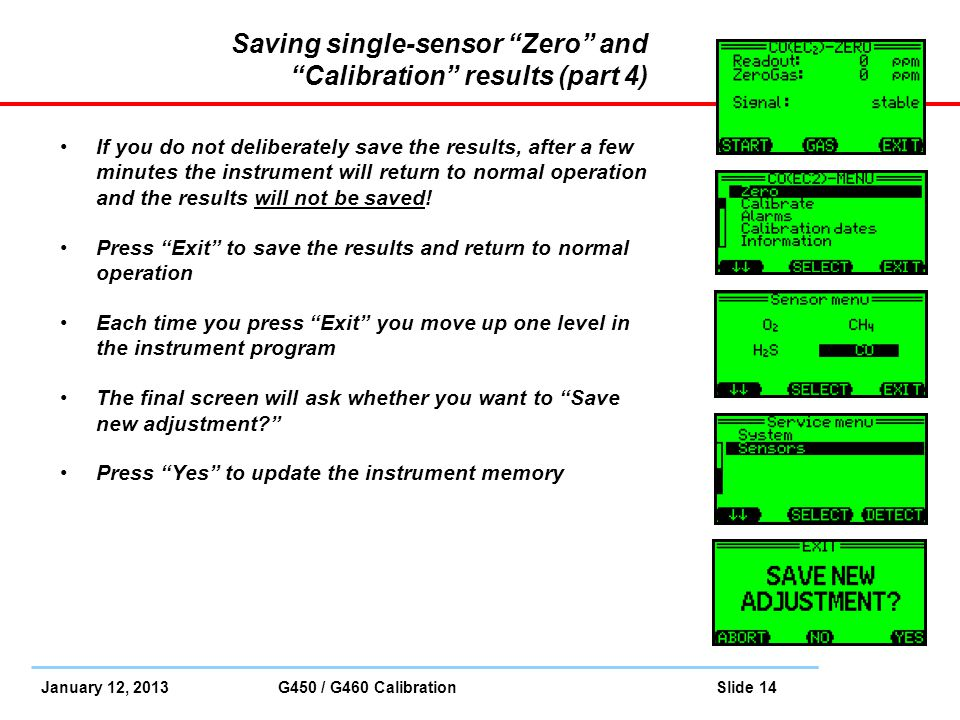 Saving single-sensor Zero and Calibration results (part 4)