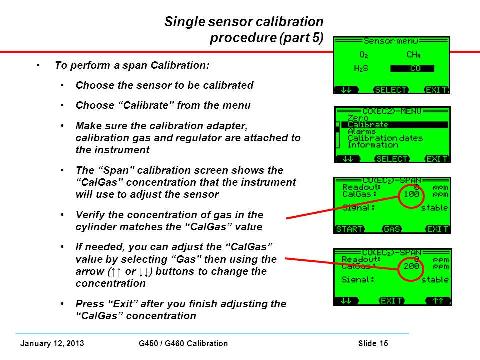 Single sensor calibration procedure (part 5)
