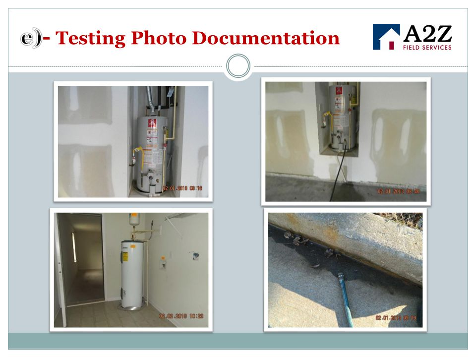 e)- Testing Photo Documentation