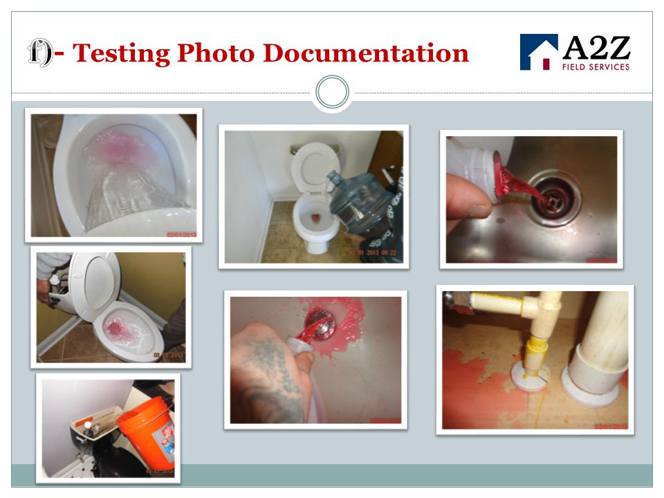 f)- Testing Photo Documentation