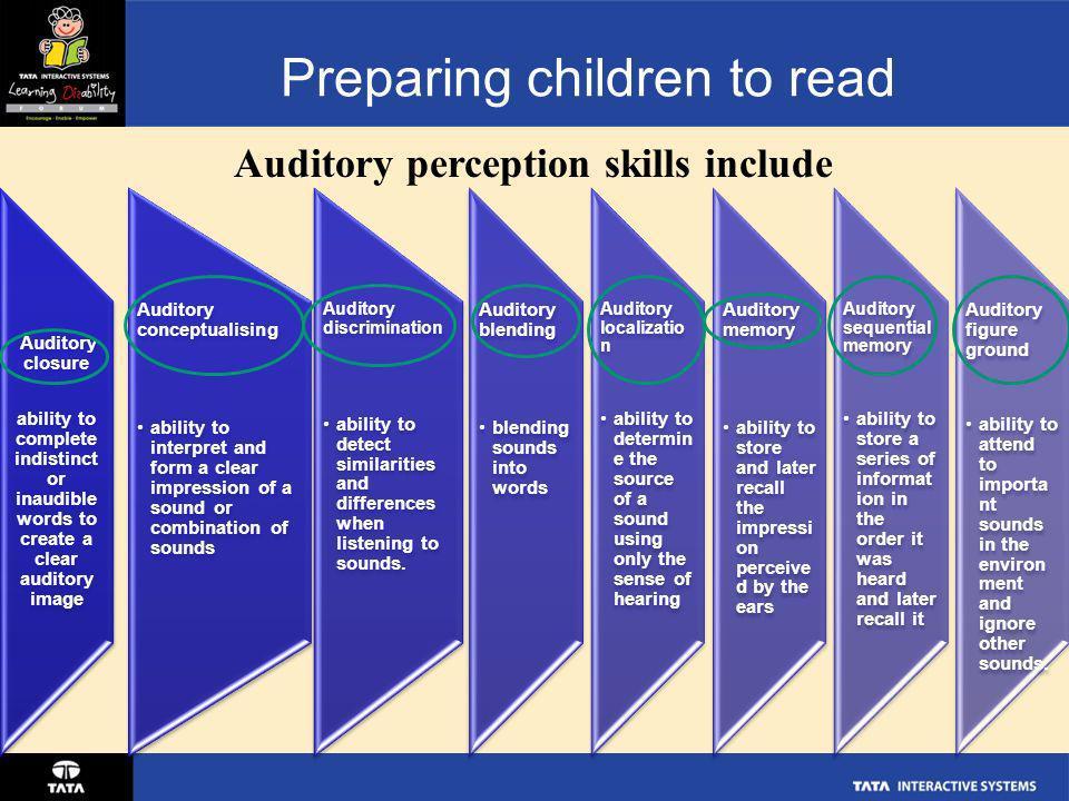 Preparing children to read