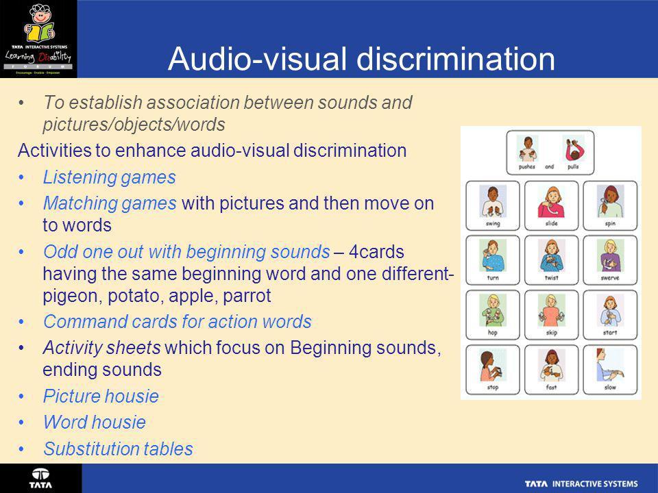 Audio-visual discrimination