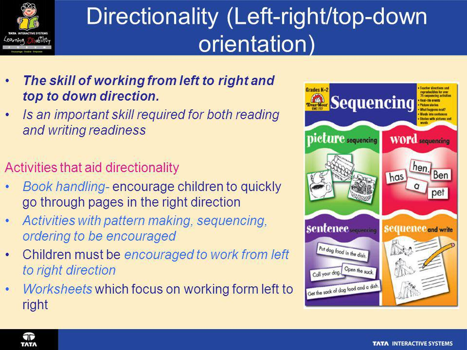 Directionality (Left-right/top-down orientation)