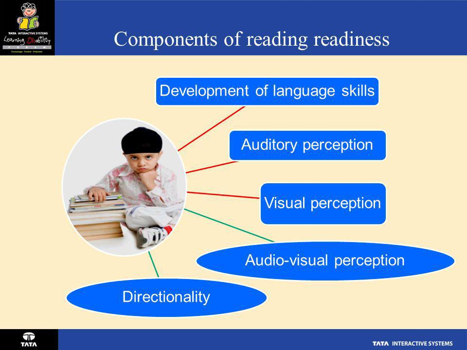 Components of reading readiness