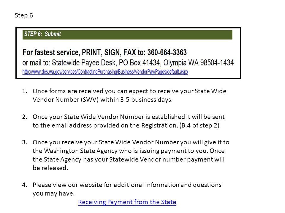 Receiving Payment from the State
