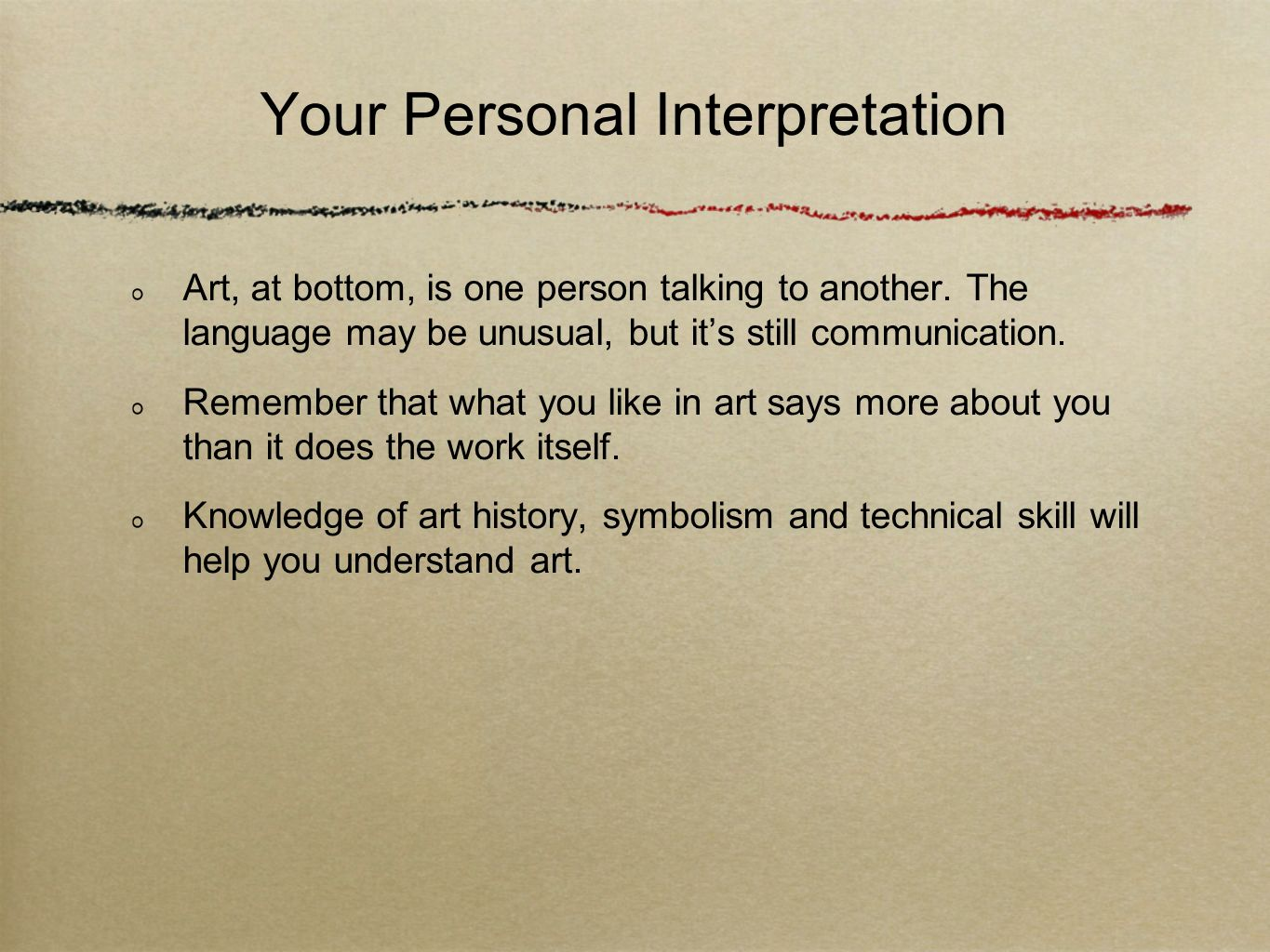 Your Personal Interpretation