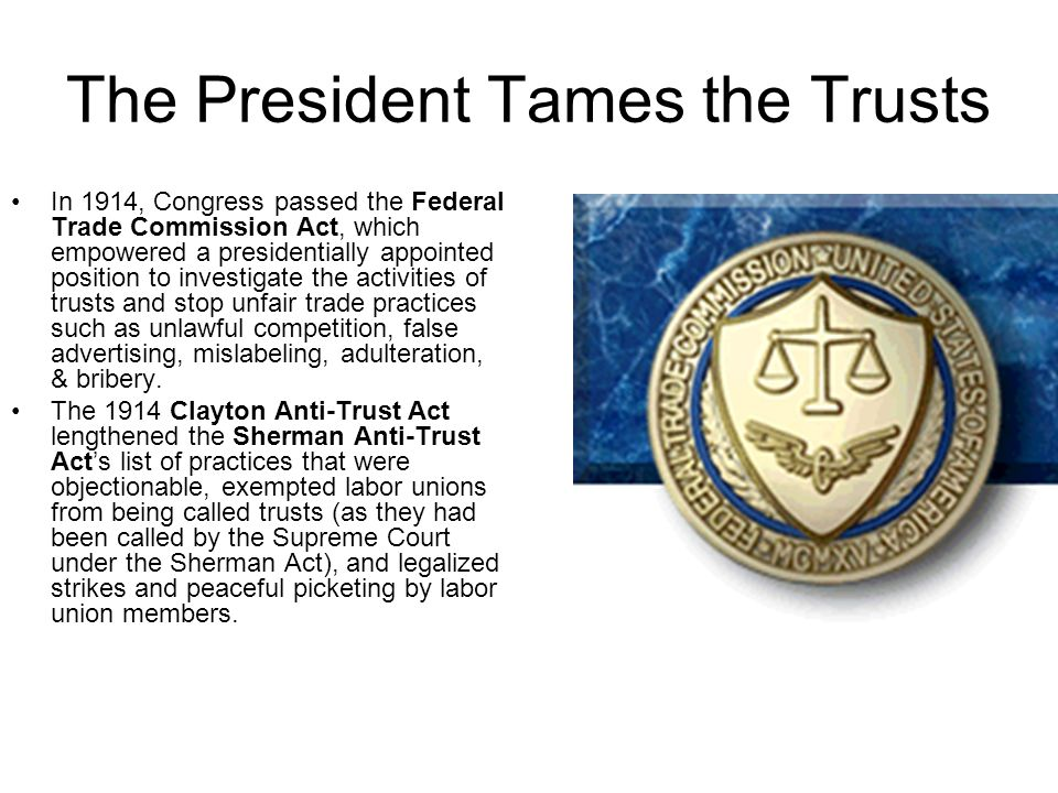 The President Tames the Trusts