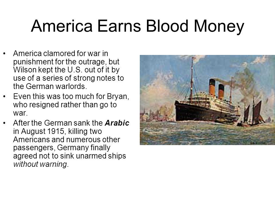America Earns Blood Money