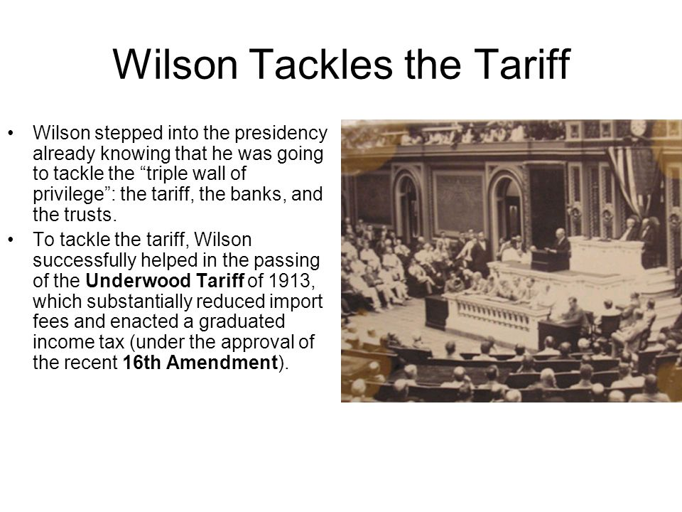 Wilson Tackles the Tariff