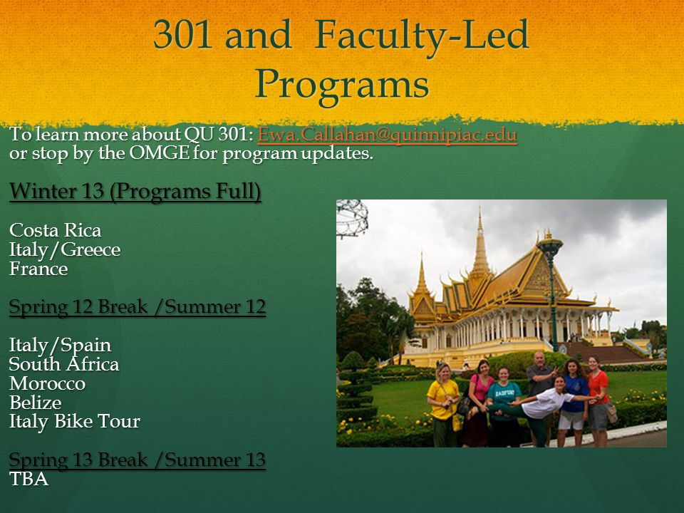 301 and Faculty-Led Programs
