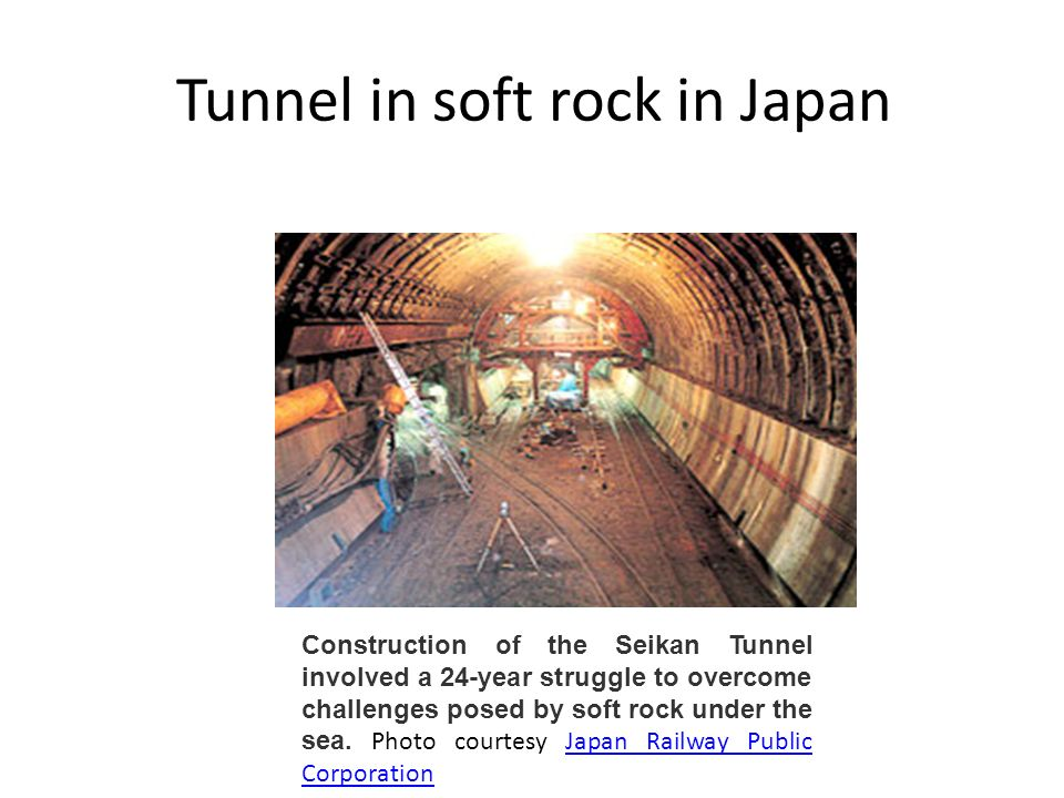 Tunnel in soft rock in Japan