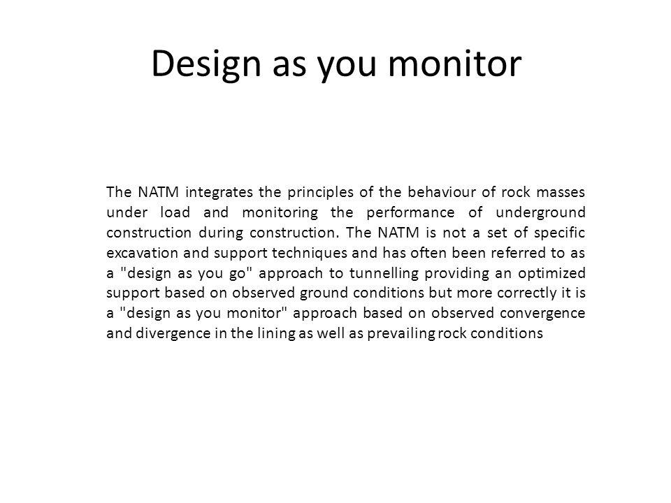 Design as you monitor