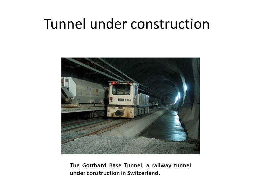 Tunnel under construction