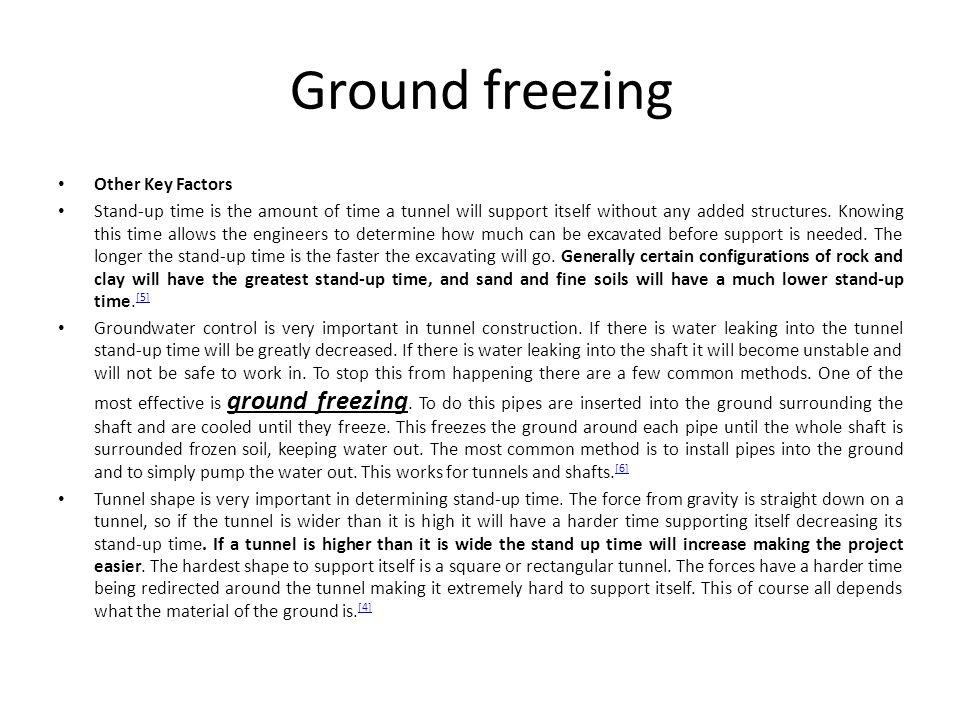Ground freezing Other Key Factors