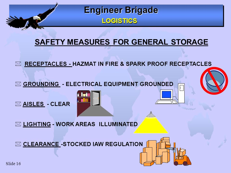 SAFETY MEASURES FOR GENERAL STORAGE