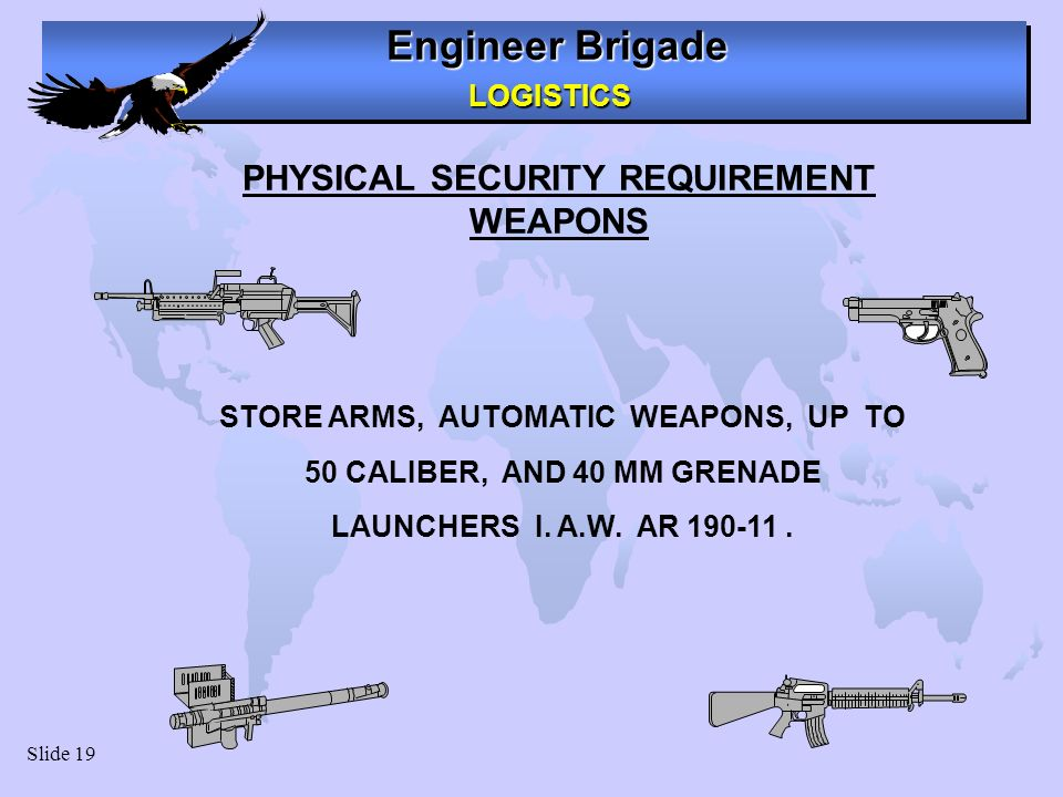 PHYSICAL SECURITY REQUIREMENT