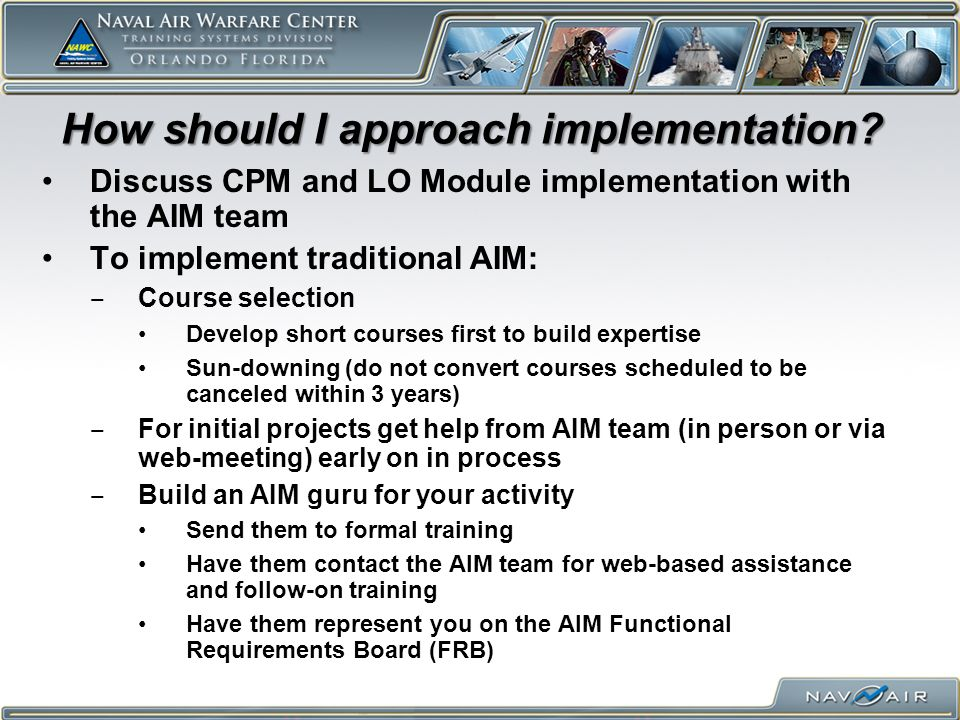 How should I approach implementation