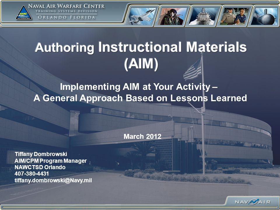 Authoring Instructional Materials (AIM)