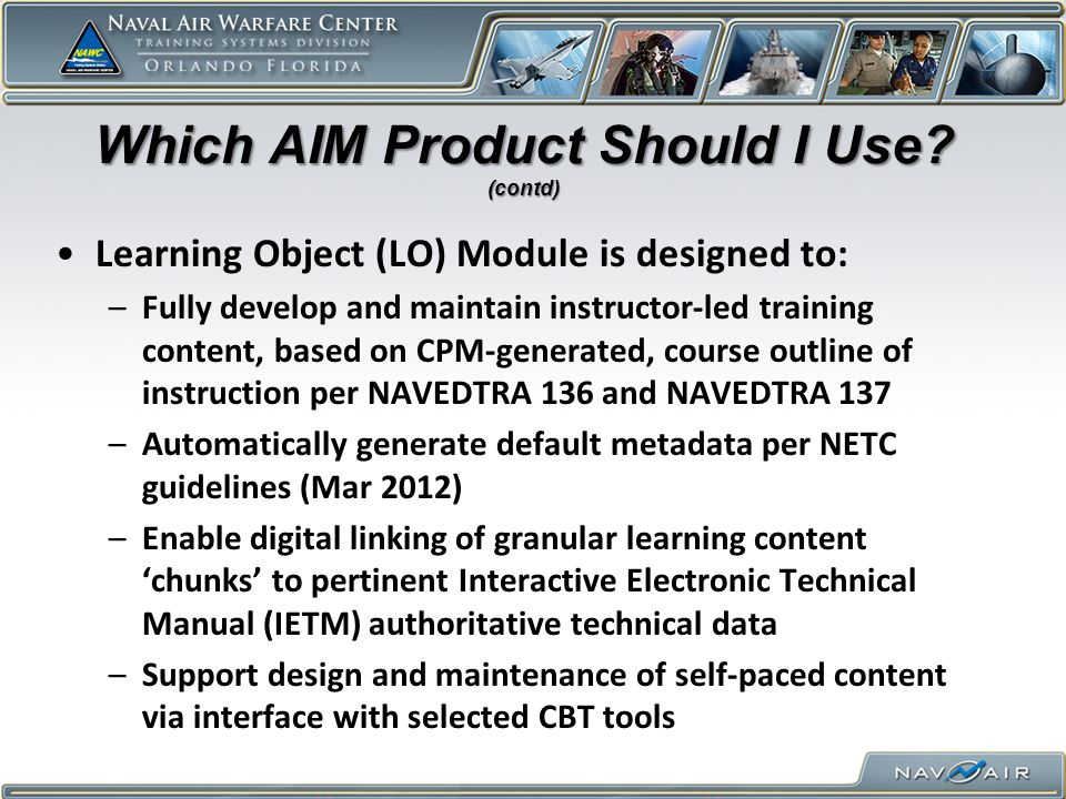 Which AIM Product Should I Use (contd)
