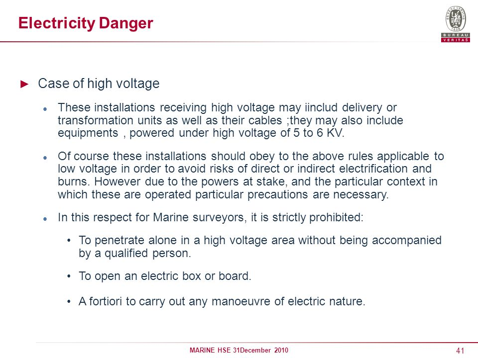 Electricity Danger Case of high voltage