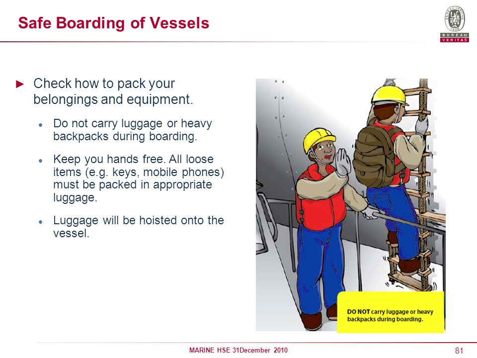 Safe Boarding of Vessels