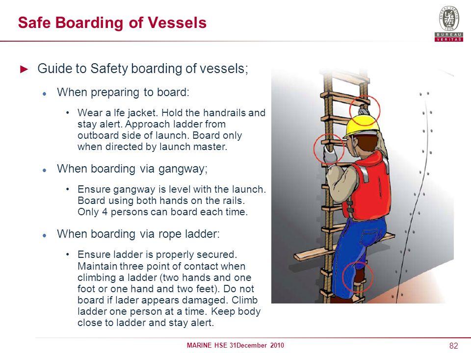 Safe Boarding of Vessels