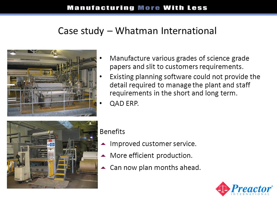 Case study – Whatman International