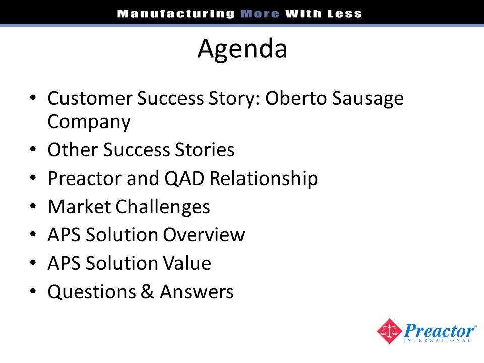 Agenda Customer Success Story: Oberto Sausage Company