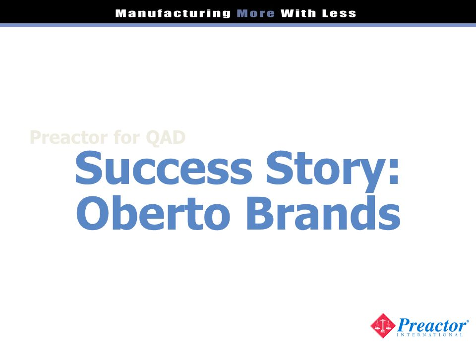 Success Story: Oberto Brands