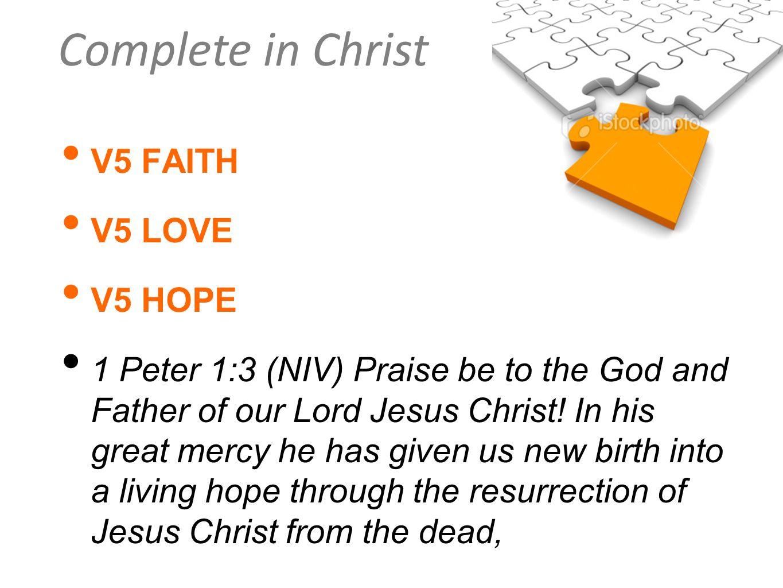 V5 FAITH V5 LOVE. V5 HOPE.