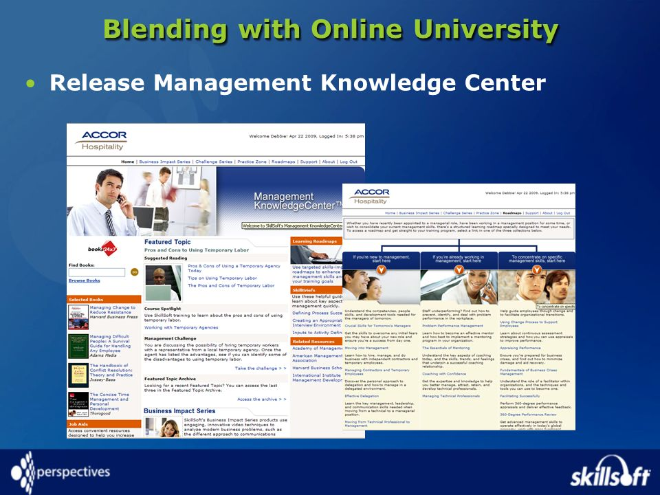 Blending with Online University