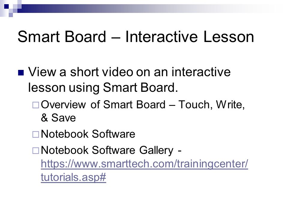 Smart Board – Interactive Lesson