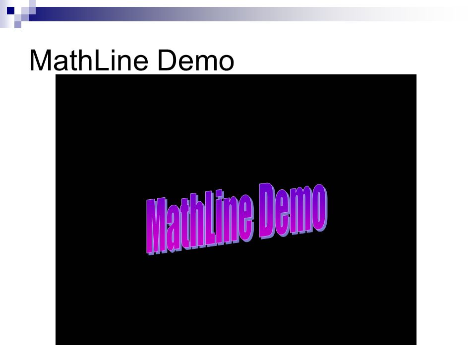 MathLine Demo MathLine Demo
