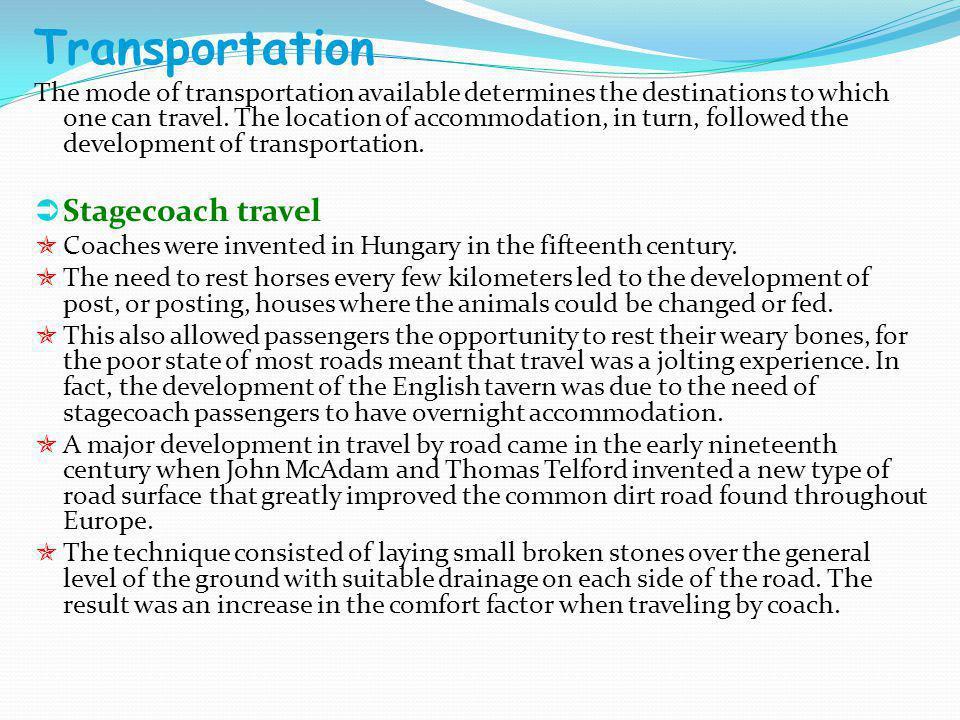 Transportation Stagecoach travel