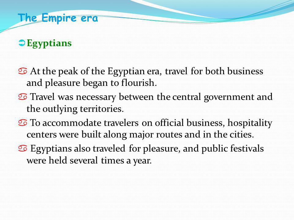 The Empire era Egyptians