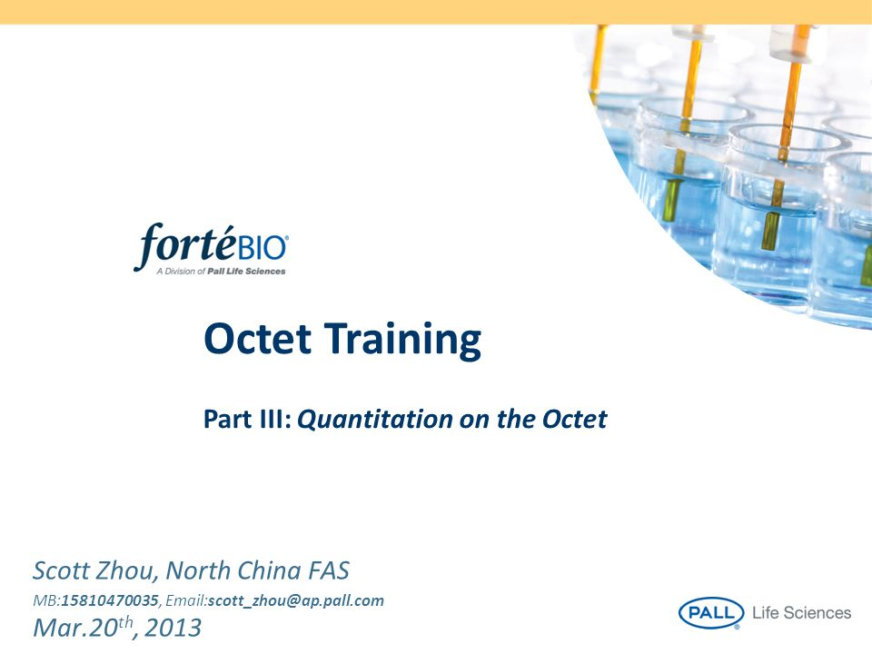 Octet Training Part III: Quantitation on the Octet