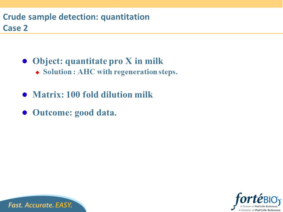 Crude sample detection: quantitation Case 2