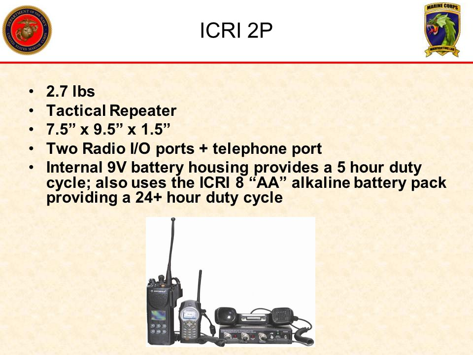 ICRI 2P 2.7 lbs Tactical Repeater 7.5 x 9.5 x 1.5