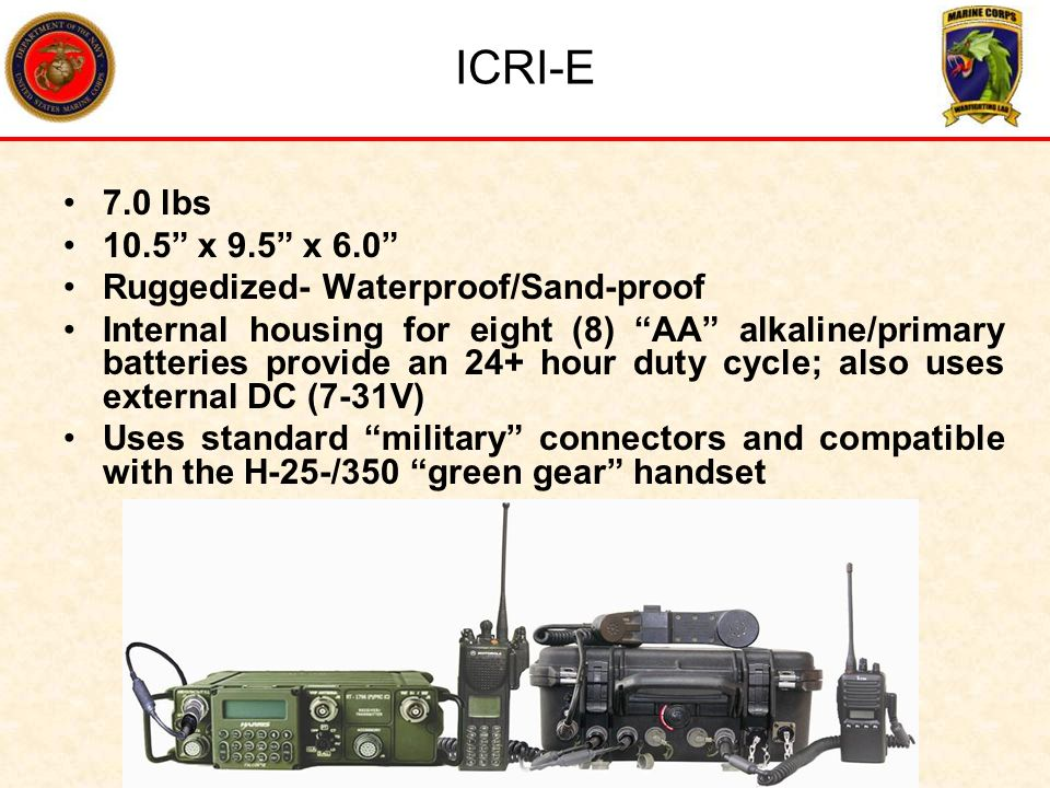 ICRI-E 7.0 lbs 10.5 x 9.5 x 6.0 Ruggedized- Waterproof/Sand-proof