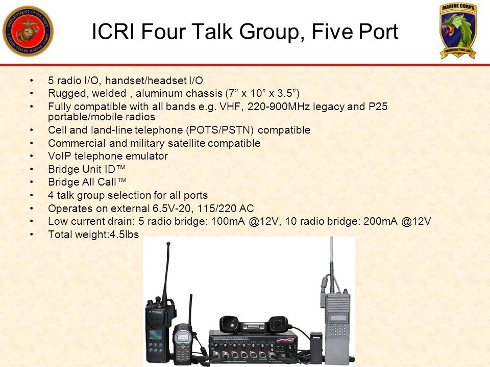 ICRI Four Talk Group, Five Port