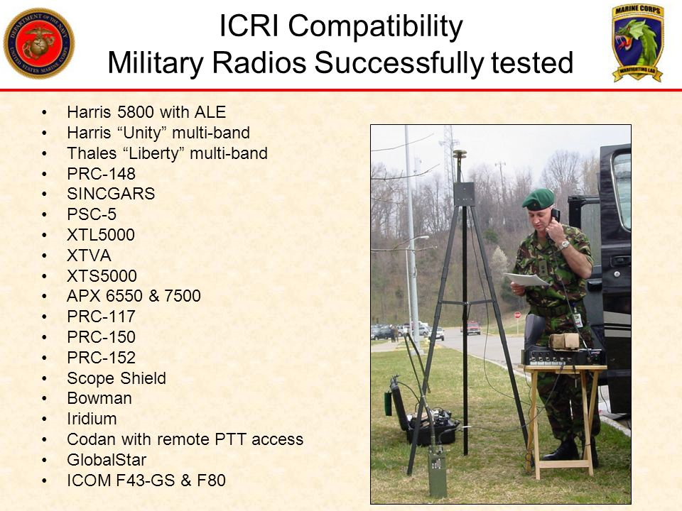 ICRI Compatibility Military Radios Successfully tested
