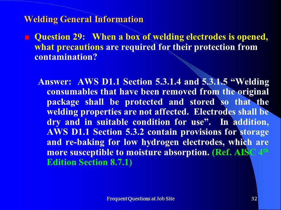 Welding General Information