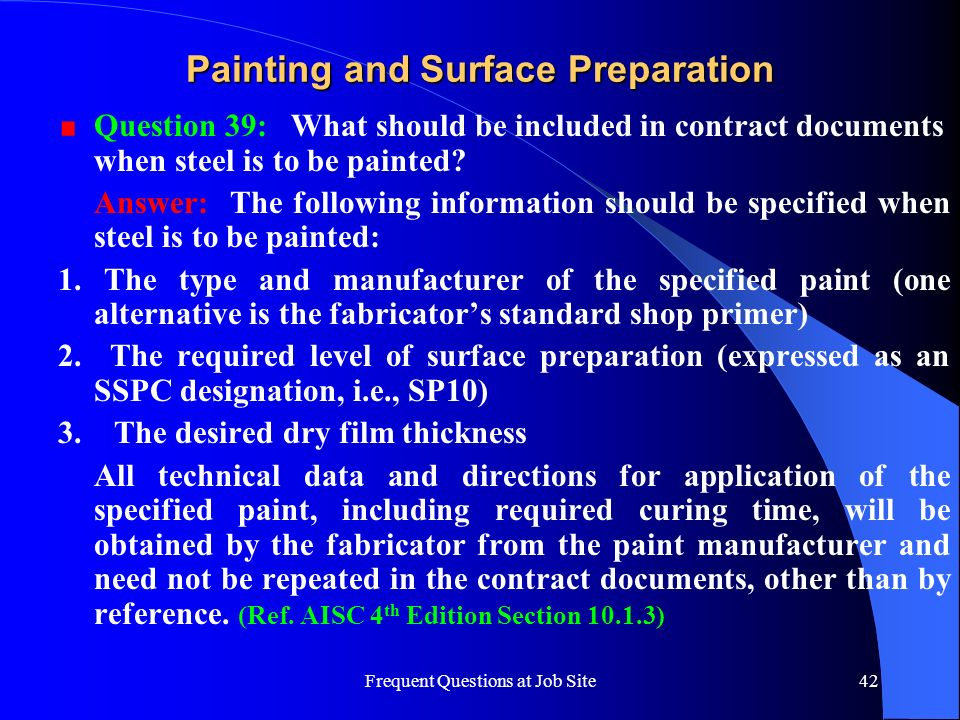 Painting and Surface Preparation
