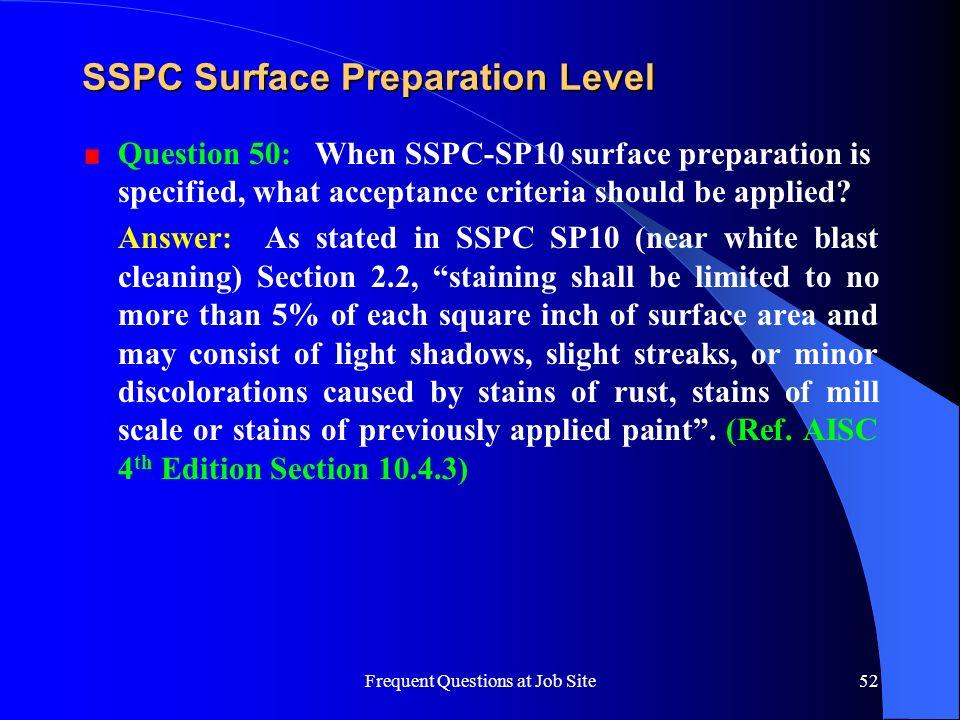 SSPC Surface Preparation Level