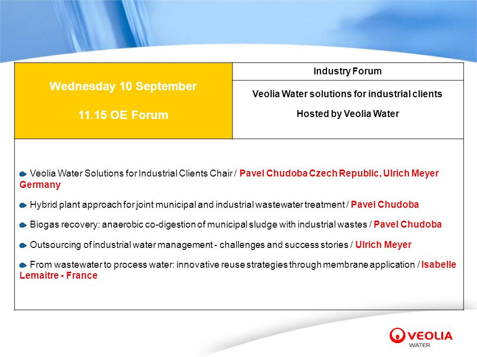 Veolia Water solutions for industrial clients