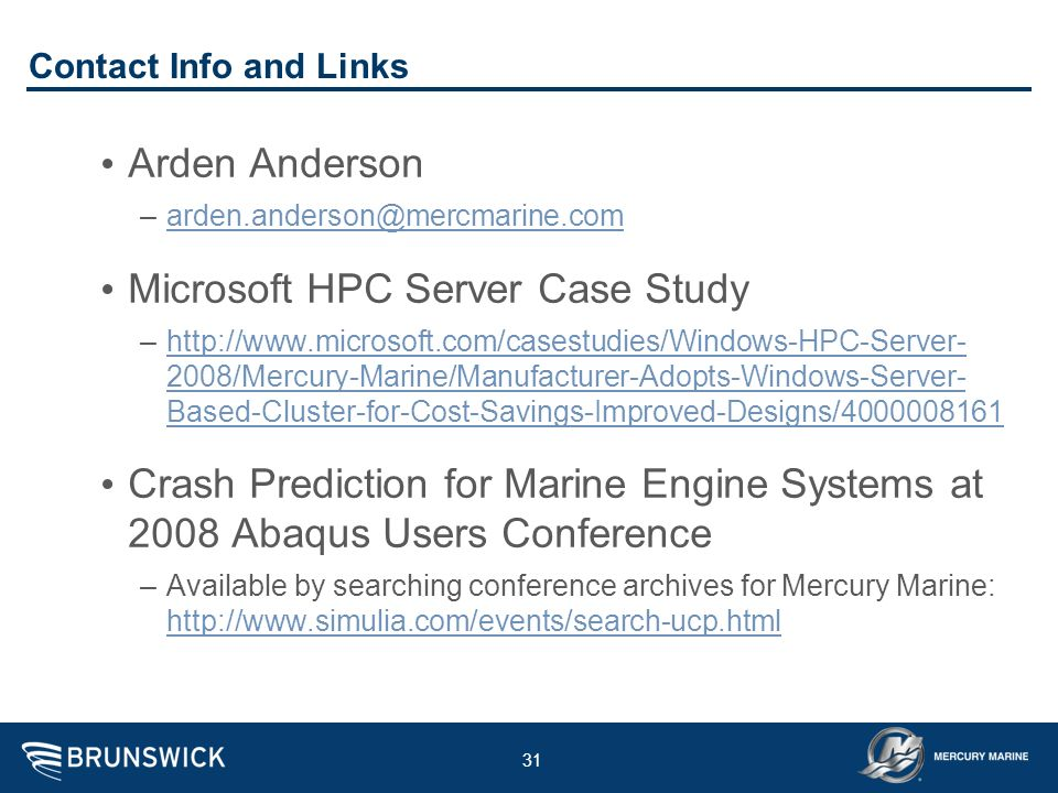 Microsoft HPC Server Case Study