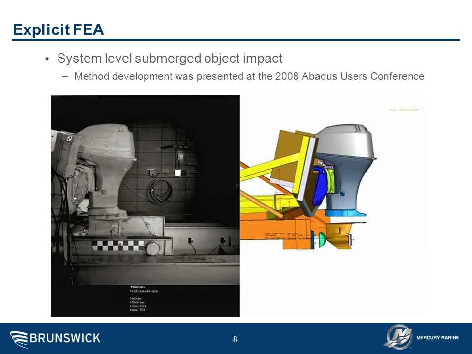 Explicit FEA System level submerged object impact