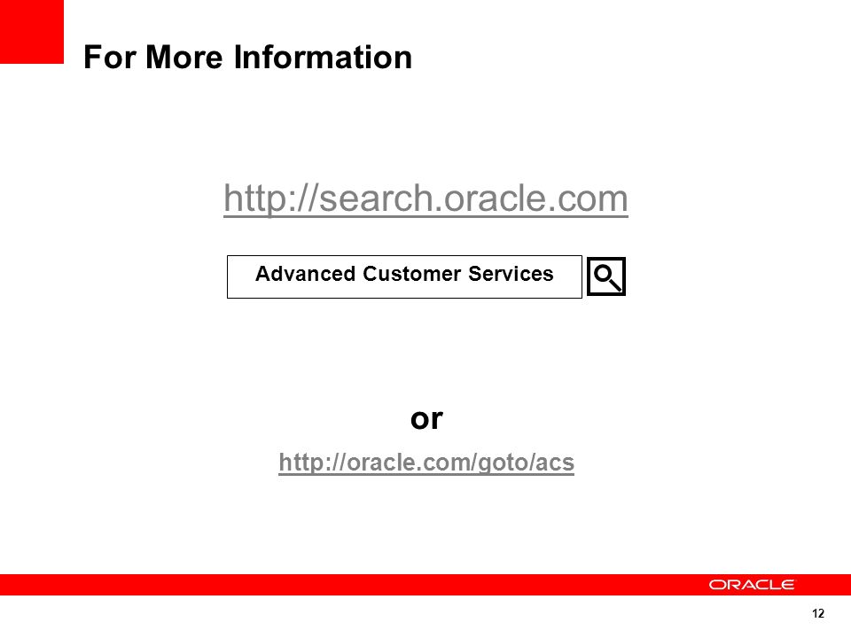 Advanced Customer Services
